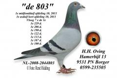 de 803 van H.H,. Oving